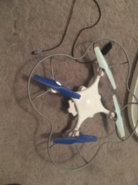 white and blue quadcopter drone HALETHORPE