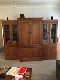 brown wooden cabinet with shelf STONEMOUNTAIN