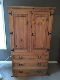 Rustic Wood Armoire  Spruce Grove, T7X 0C6