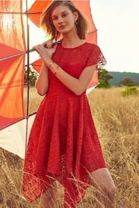 ANTHROPOLOGIE MAEVE ORANGE KNITTED LACE DRESS new no tags  SIZE: 4 Mc Lean, 22101
