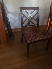 Ethan Allen Kitchen Table with Custom Glass Top and 7 Chairs Reading, 01867
