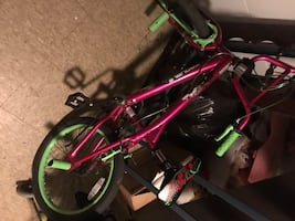 Red and green bmx bike