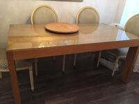 Oakwooden table with bench Toronto, M4M 2T1
