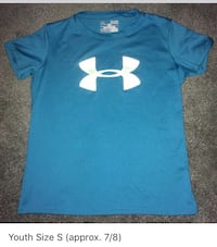 Under Armour Shirt (Youth Size S) Cranberry, 16301