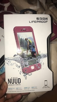 red Lifeproof Nuud iPhone case box Pollocksville, 28573