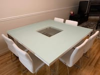 Structube Dining Table Set with 6 chairs