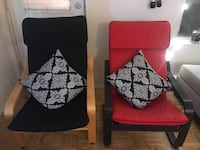 Two IKEA Poang arm chairs Montréal, H4G 1K1