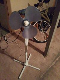 white and gray pedestal fan Edmonton, T5Y 3B6
