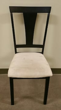 EBONY BLACK, LIGHTWEIGHT WOOD CHAIR w/CUSHIONED SEAT Arlington, 22204
