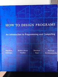 How To Design Programs textbook Toronto
