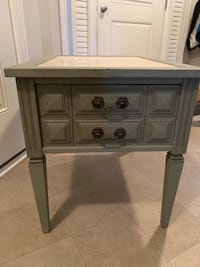 Refinished Marble Top Side Table London, N6B