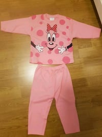 Kleinkind rosa Minnie Mouse Pyjama-Set