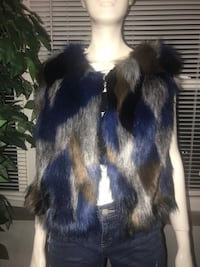 Handmade faux fur vest size SMALL Indianapolis, 46208
