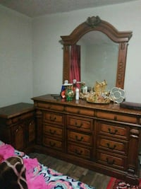 brown wooden dresser with mirror Edmonton, T5C 0H5