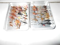 Fly fishing trout box, nymphs, 38 flies