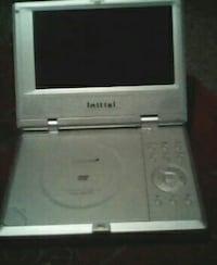 gray CRT TV with DVD player