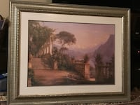 terrace near mountains and trees paintings rrr