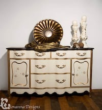 Beautiful French Provincial buffet with raised stencil  Sykesville, 21784