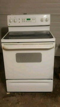 white and black induction range oven Calgary, T2B 3H8