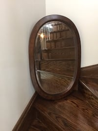Wood frame oval beveled mirror  Bradford West Gwillimbury, L3Z