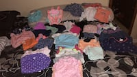 6-9mo assorted baby girl clothes- mix of rompers, onesies,sets, pants- good condition no stains also included bathing suit. Need gone make an offer price is negotiable. Wanting to sell all together.