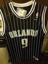 black and white pinstripes Orlando Magic 9 jersey shirt Austin, 78717