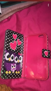 pink, black, and white polka-dotted and owl print smartphone flip case screenshot Toronto, M6P