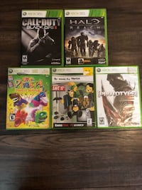 six Xbox 360 game cases Edmonton, T6H