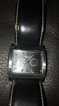 Kenneth Cole black leather watch - needs battery Ontario, 44903