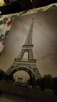 brown and black Eiffel Tower painting 2180 mi