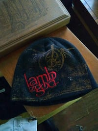 black Lamb of God embroidered knit cap Allegan, 49010