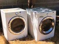 white front-load washer and dryer set Los Angeles, 91331