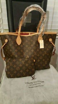 brown Louis Vuitton leather tote bag Falls Church, 22041