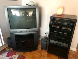 TV with Media Stands and Speakers!! Great price!!!