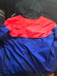 blue and red zip-up jacket Lubbock