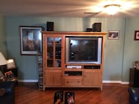 Solid wood oak Entretainment Center null