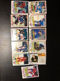 Assorted vintage hockey cards from 80's Markham, L3T 7K6