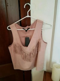 Brand new Guess faux-suede fringe top size small  Montreal, H4B 2A7