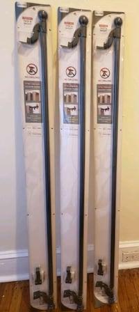 Curtain rods, expandable 48-84 in. 3 available at time of listing