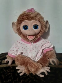 Toy Talking Monkey Moves Eyes and Head