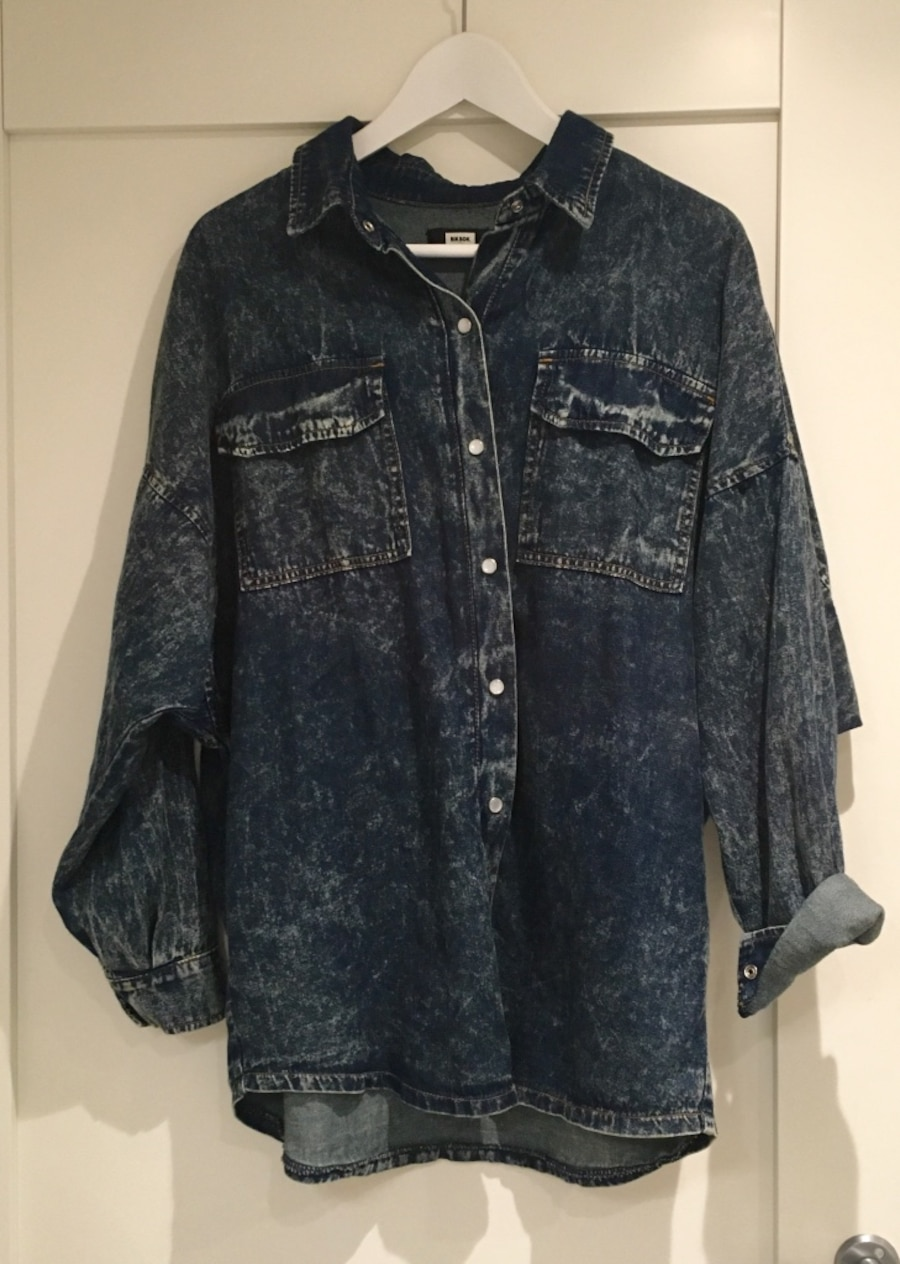 Oversized denimskjorte
