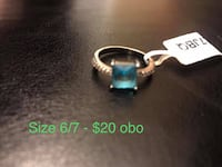 silver-colored ring with green gemstone Edmonton, T6X 0J1