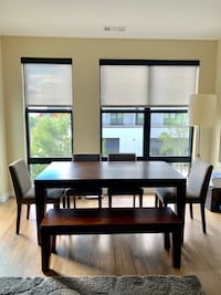 West Elm dining table with bench Vienna, 22031