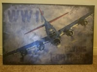 WWII PAINTING Lake Elsinore