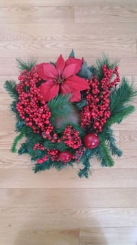 Red Christmas Wreath with lights  New Tecumseth, L0L 1L0