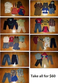 2T Boy Clothing Lot 1 (Take 50 Pieces for $60) Mississauga