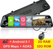 "12"" Rearview mirror 4G Android 8.1 dash camera 2G RAM 32G ROM"