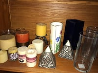 Assorted candles/vases $3 EACH Oakland, 94602
