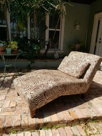 brown and black floral fabric sofa chair West Palm Beach, 33405