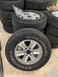 2019 Ford F-150 Factory Alloy wheels and tires.  Used  approximately 20k on tires. Rims are in great condition   Baltimore, 21236